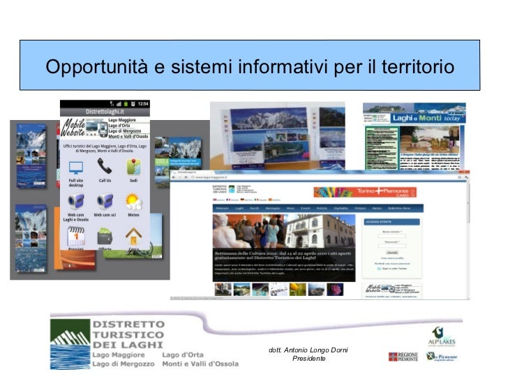 Opportunità e sistemi informativi per il territorio                           dott. Antonio Longo Dorni                   ...