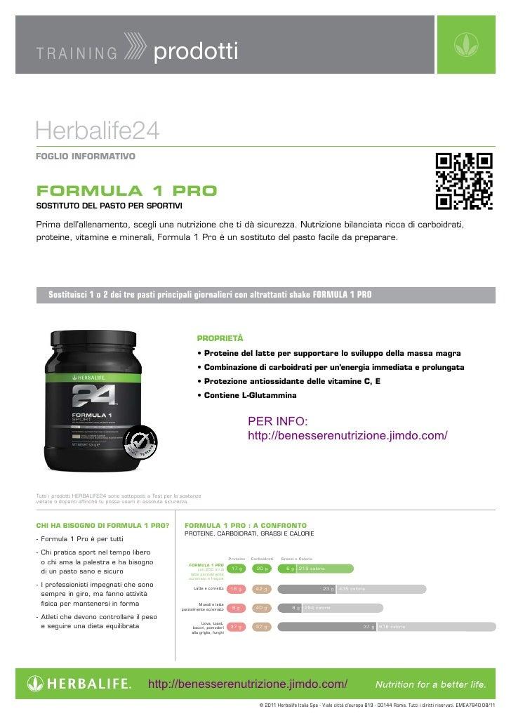 TRAINING                                                   prodottiHerbalife24FOGLIOINFORMATIVOFORMULA 1 PROSOSTITUTO DEL...