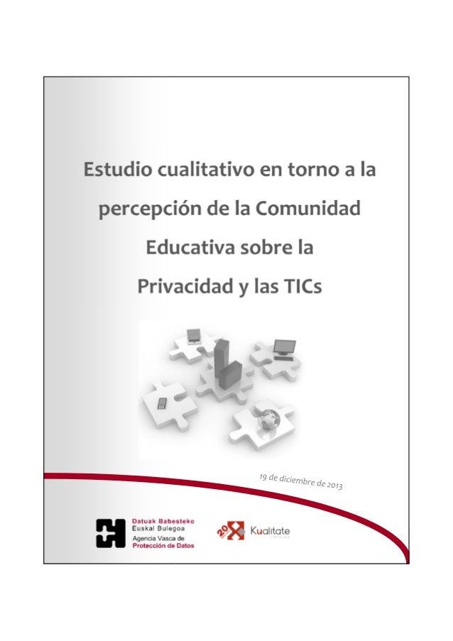 Informe Privacidad y TIC Agencia Vasca de Protección de Datos  2014