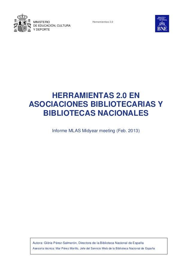 MINISTERIO                                   Herramientas 2.0DE EDUCACIÓN, CULTURAY DEPORTE     HERRAMIENTAS 2.0 ENASOCIAC...