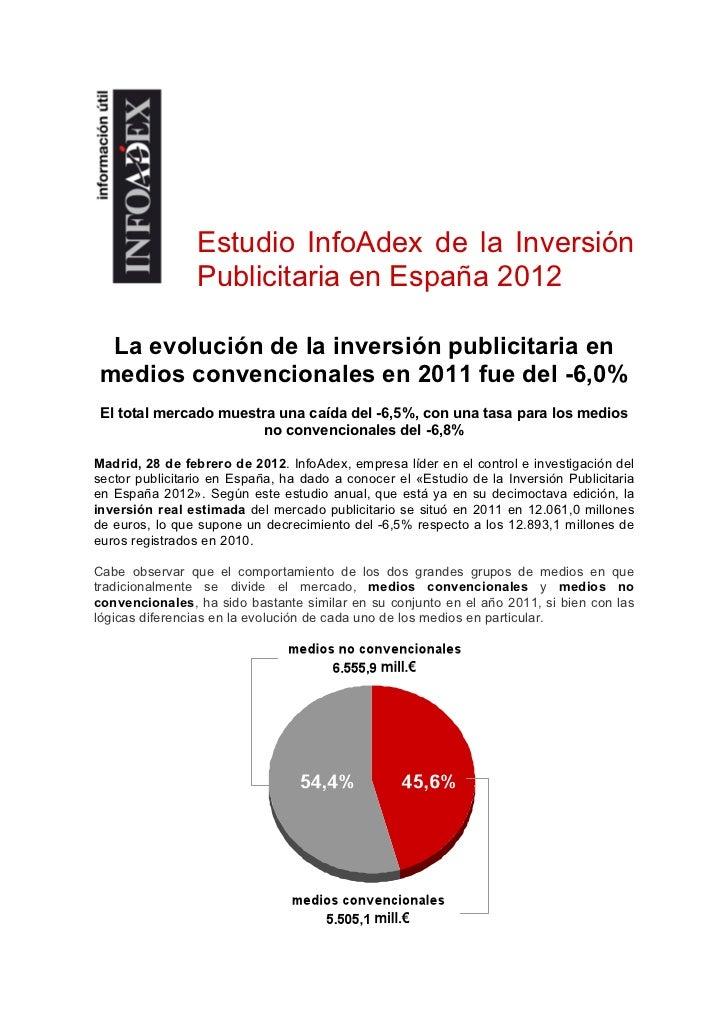 Estudio InfoAdex de la Inversión Publicitaria en España 2012