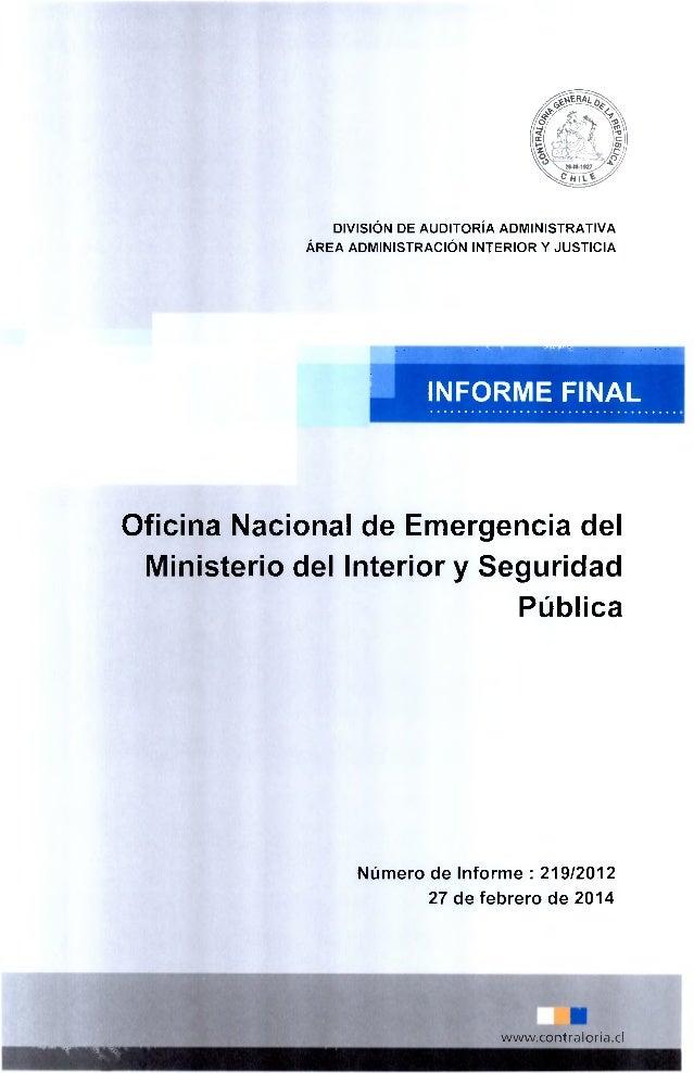 informe informe finaln 219 2012 oficina nacional de