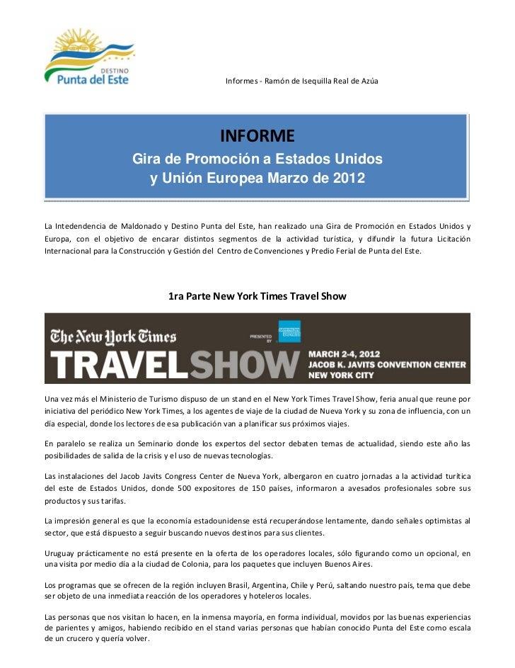 Uruguay y Punta del Este en New York Times Travel Show