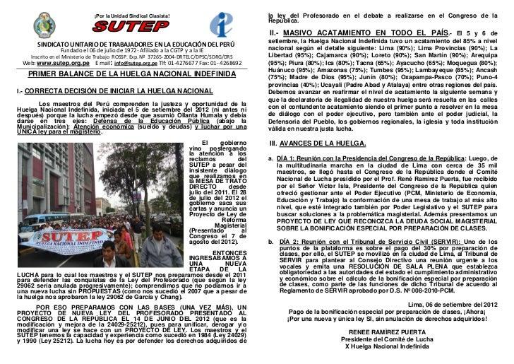 ¡Por la Unidad Sindical Clasista!                               la ley del Profesorado en el debate a realizarse en el Con...