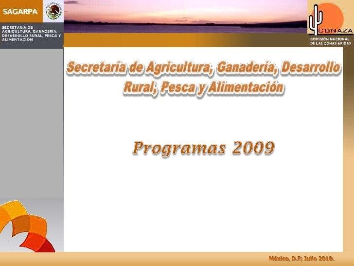 Programas 2009<br />
