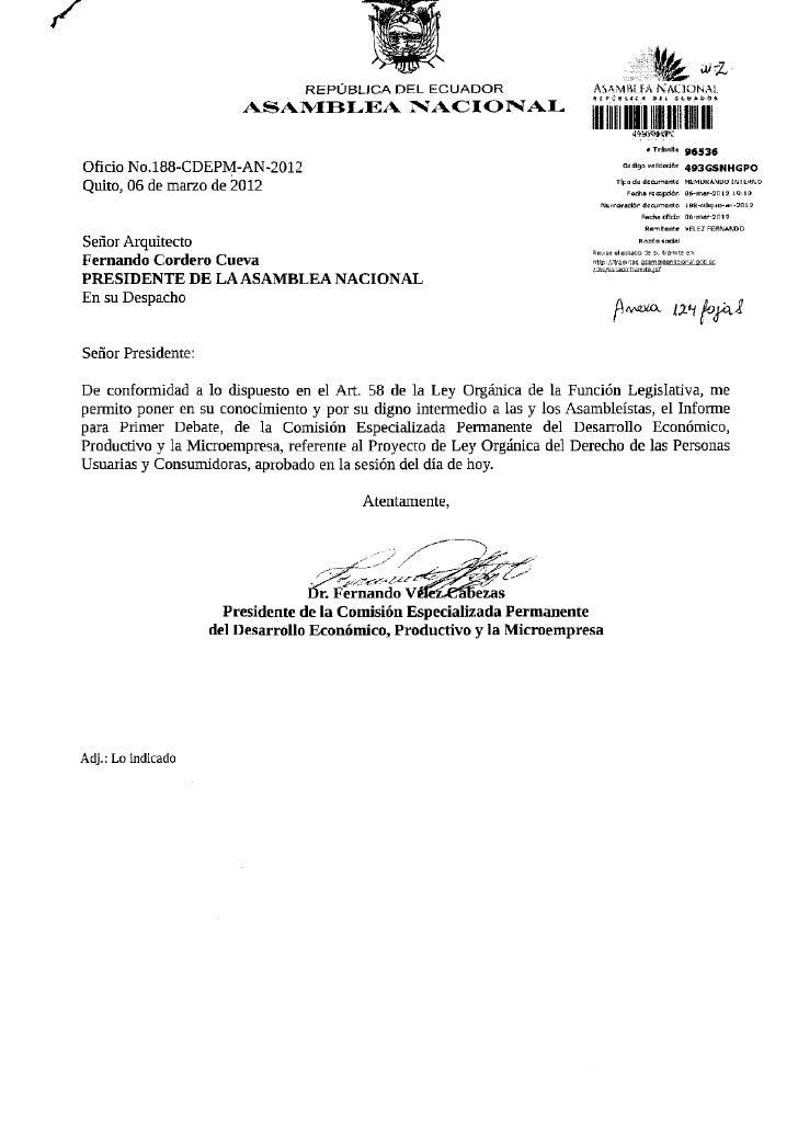 REPÚBLICA DEL ECUADOR                     AS A VIH í FA N A C I O N A L                        ASAMBLEA NACIONAL          ...