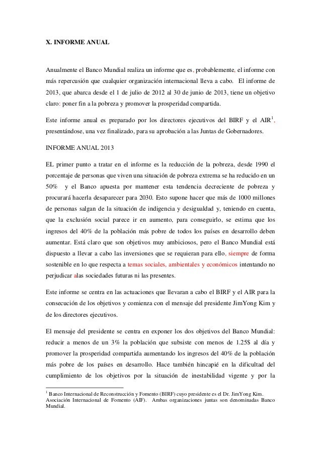 Informe 2013 banco mundial