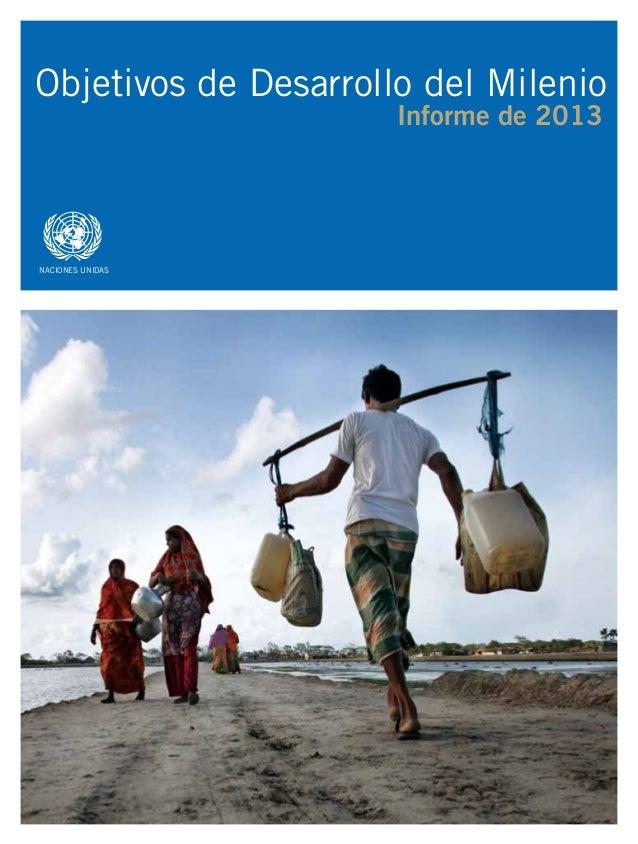 asdf Objetivos de Desarrollo del Milenio Informe de 2013 NACIONES UNIDAS