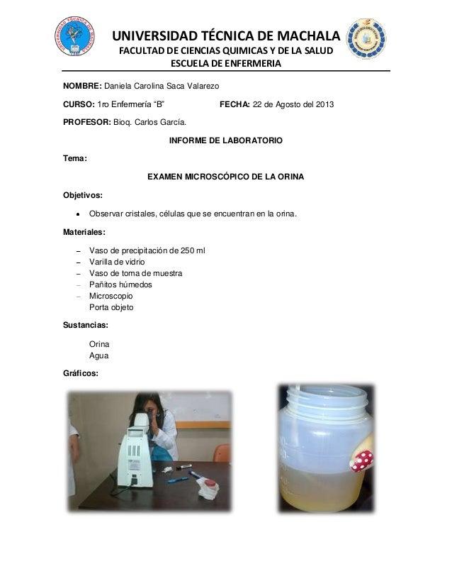 UNIVERSIDAD TÉCNICA DE MACHALA FACULTAD DE CIENCIAS QUIMICAS Y DE LA SALUD ESCUELA DE ENFERMERIA NOMBRE: Daniela Carolina ...