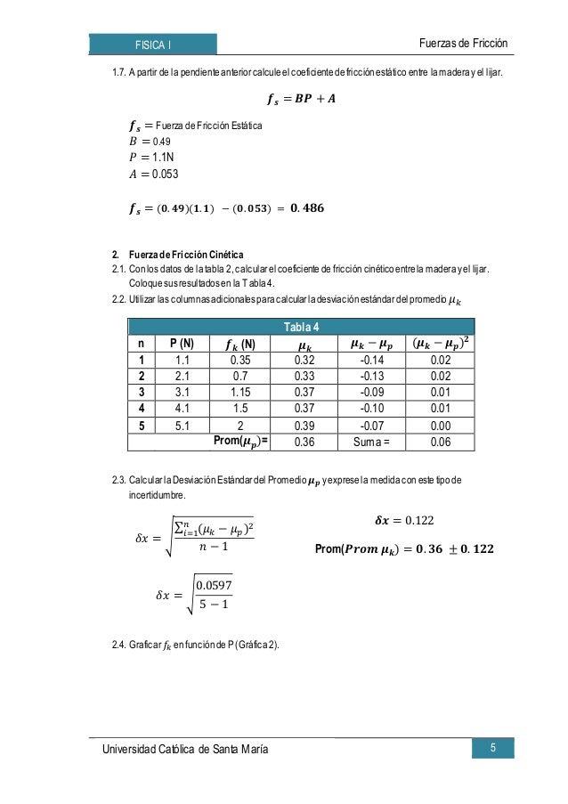 Formulas de Fuerzas Fisica Fisica i Fuerzas de Fricción