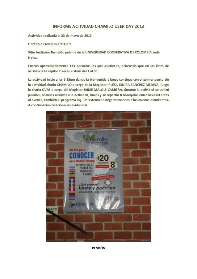 Informe actividad chamilo user day 2013(1)