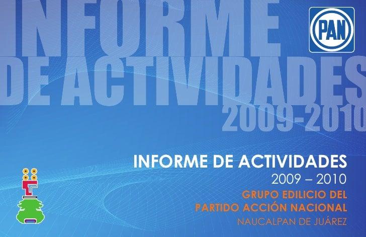Informe actividades 2009-20010