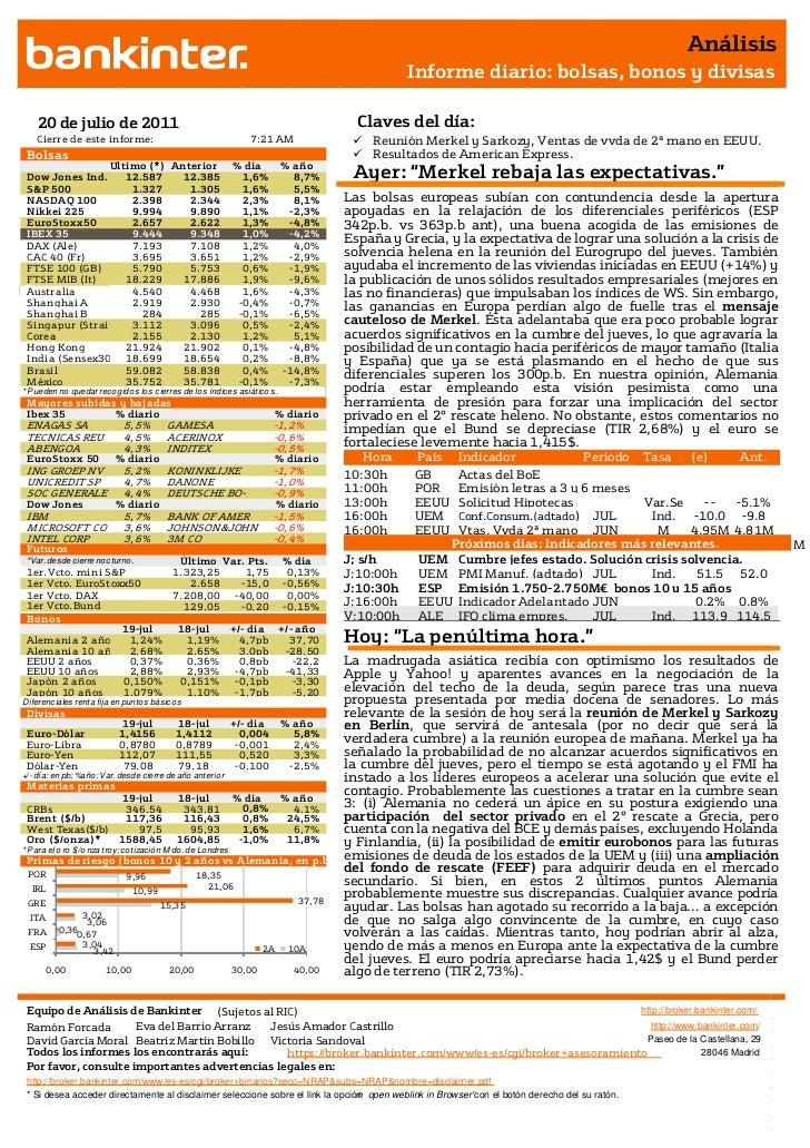 Informe Análisis 20 07 2011