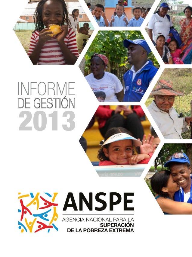 Informe de Gestión ANSPE 2013