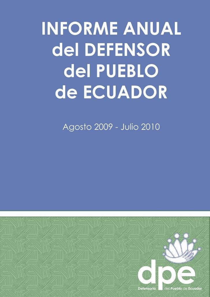 Informeanualdefensordelpuebloecuador2010