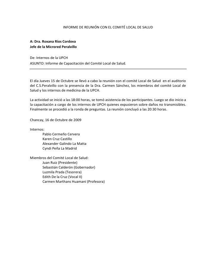 Informe Capacitacion Comite Local