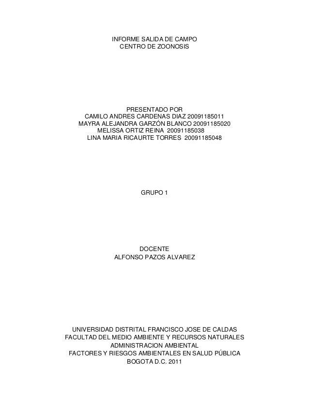 Informe centro de zoonosis