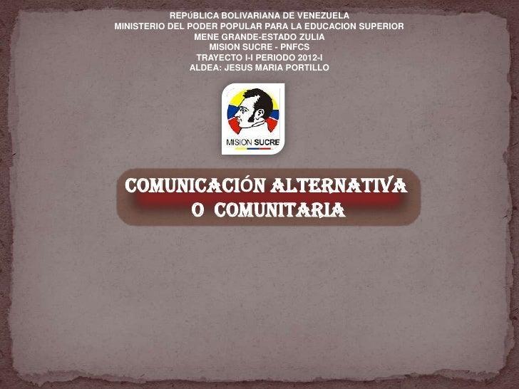 REPÚBLICA BOLIVARIANA DE VENEZUELAMINISTERIO DEL PODER POPULAR PARA LA EDUCACION SUPERIOR                MENE GRANDE-ESTAD...