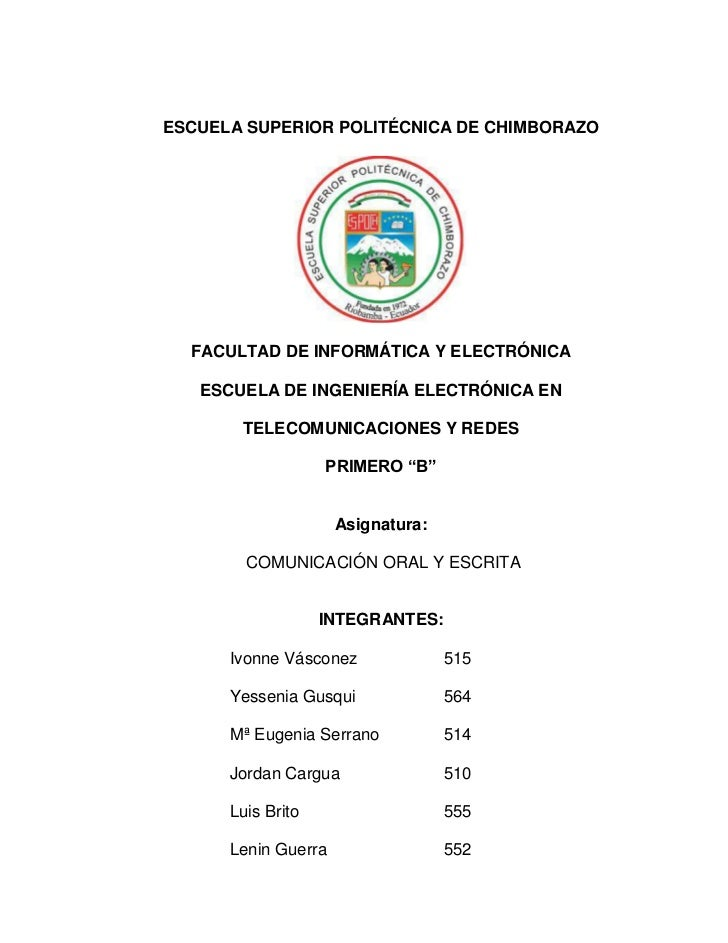 ESCUELA SUPERIOR POLITÉCNICA DE CHIMBORAZO  FACULTAD DE INFORMÁTICA Y ELECTRÓNICA   ESCUELA DE INGENIERÍA ELECTRÓNICA EN  ...
