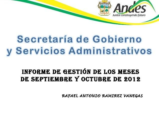 Secretaría de Gobierno  y Servicios Administrativos 13 de noviembre  2012