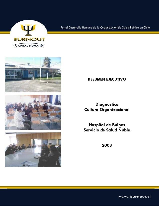Informe Cultura Organizacional Hospital de Bulnes