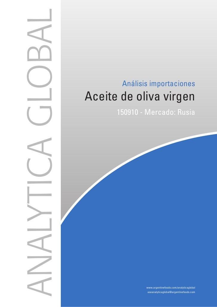 Analytica Global: (D) Análisis Importaciones - Aceite de Oliva Virgen