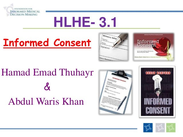 Informed consent  -2013