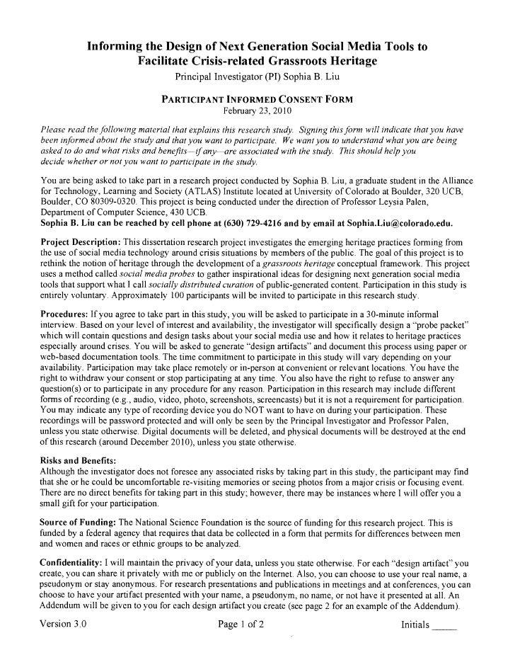 Informed consentform