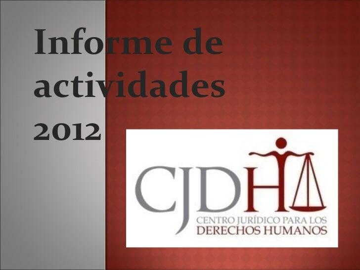Informe deactividades2012