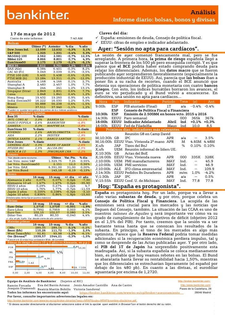 Informe de análisis 17.05.2012