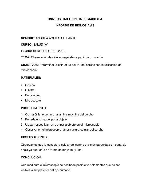 Informe de biologia # 3