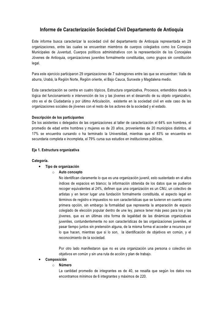 Informe de caracterización sociedad civil departamento de antioquia