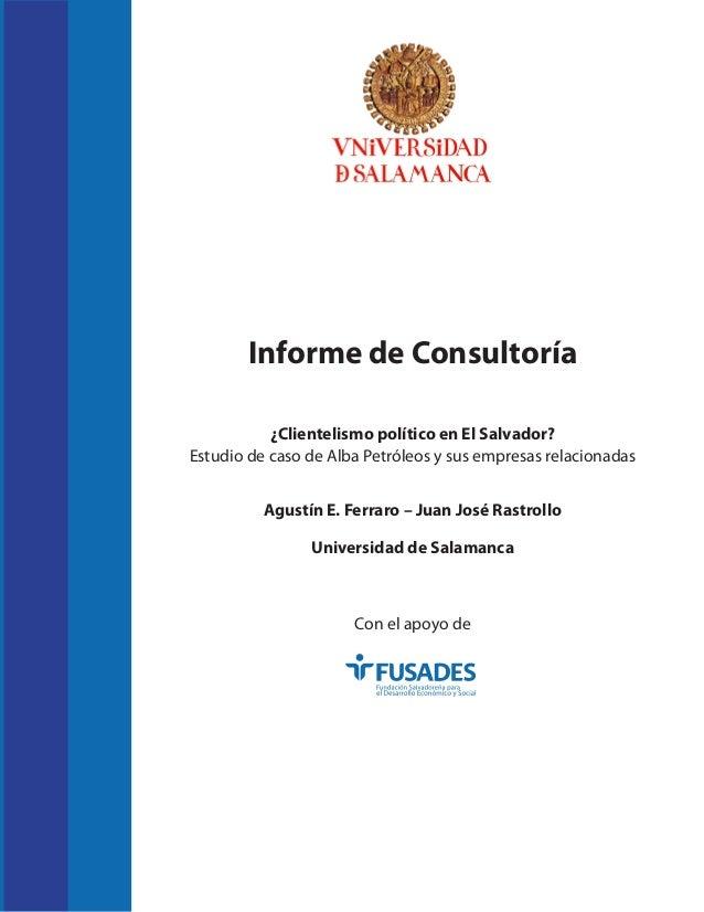 ¿Clientelismo político en El Salvador? Estudio de caso de Alba Petróleos y sus empresas relacionadas