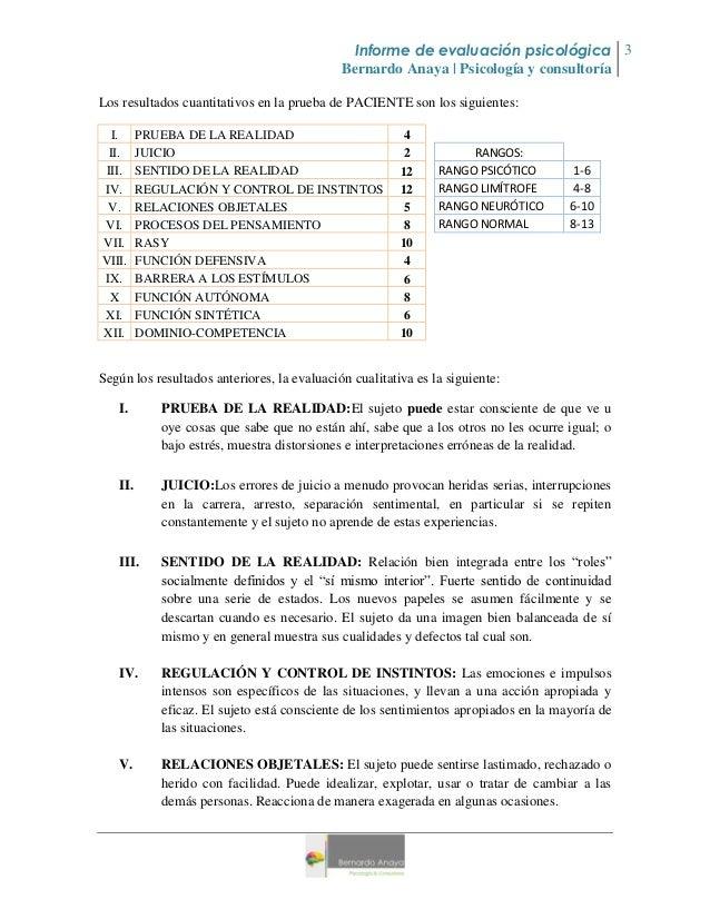 protocolo examen mental psicologico pdf