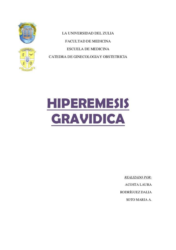 Informe de hiperemesis gravidica