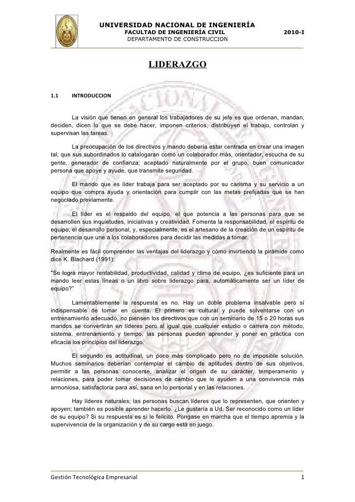 UNIVERSIDAD NACIONAL DE INGENIERÍA                             FACULTAD DE INGENIERÍA CIVIL                               ...
