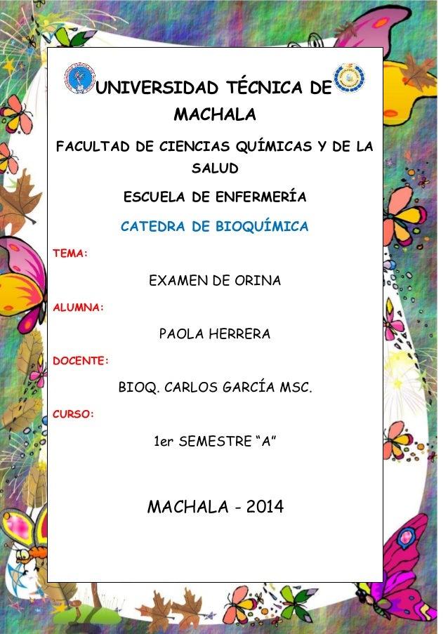 UNIVERSIDAD TÉCNICA DE MACHALA FACULTAD DE CIENCIAS QUÍMICAS Y DE LA SALUD ESCUELA DE ENFERMERÍA CATEDRA DE BIOQUÍMICA TEM...