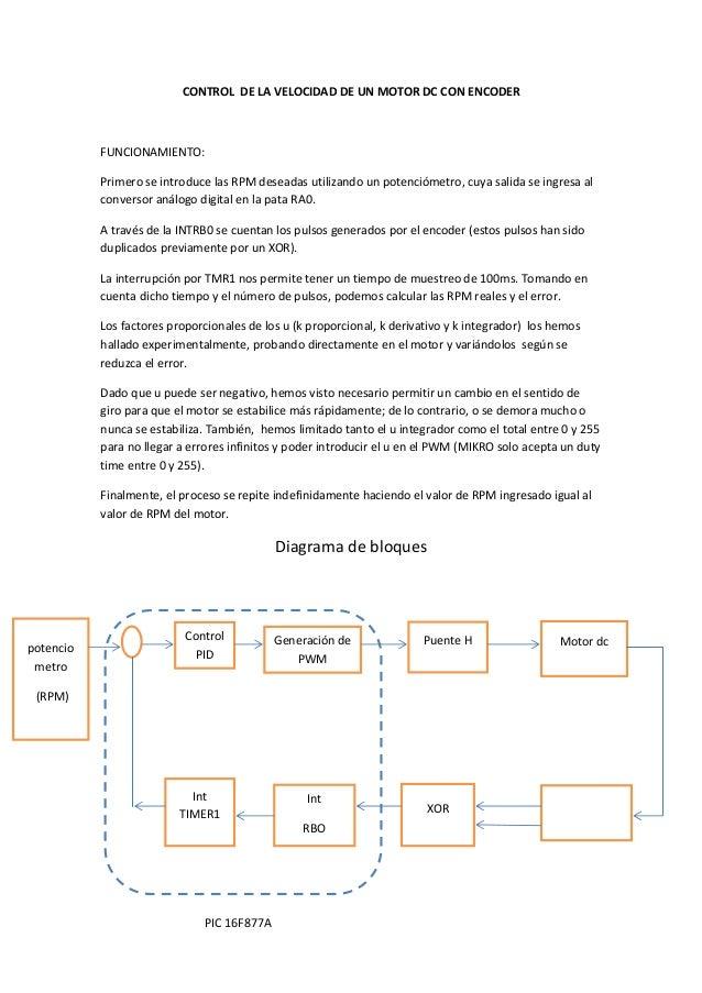 CONTROLDELAVELOCIDADDEUNMOTORDCCONENCODER  FUNCIONAMIENTO: PrimeroseintroducelasRPMdeseadasutilizandou...