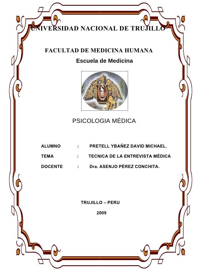 UNIVERSIDAD NACIONAL DE TRUJILLO      FACULTAD DE MEDICINA HUMANA              Escuela de Medicina                        ...