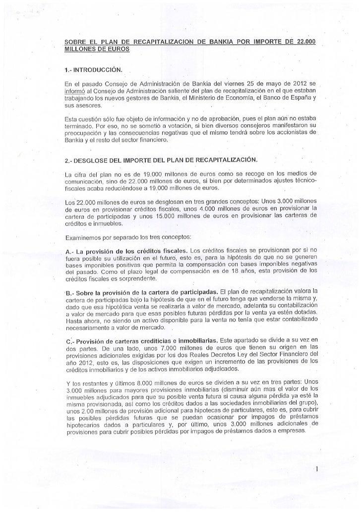 Informe de rato sobre bankia  junio 1   2012