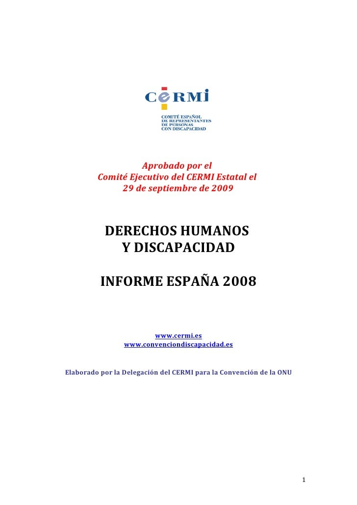 Informe de Derechos Humanos y Discapacidad 2008 del CERMI