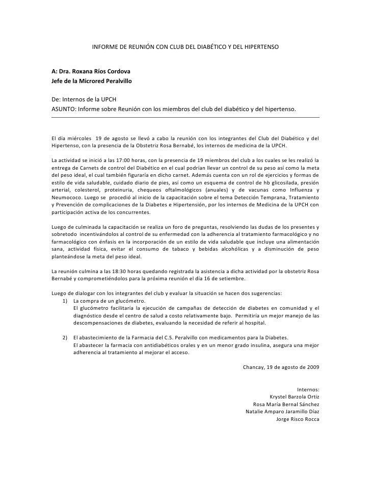Informe De ReunióN Club Db Y Hta