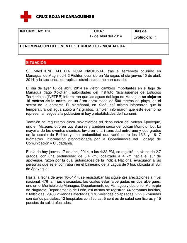SITUACIÓN SE MANTIENE ALERTA ROJA NACIONAL, tras el terremoto ocurrido en Managua, de Magnitud 6.2 Richter, ocurrido en Ma...
