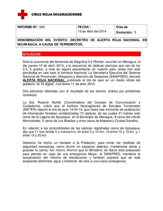Informe de situación  no 09  terremoto 15 de abril 14 (2)