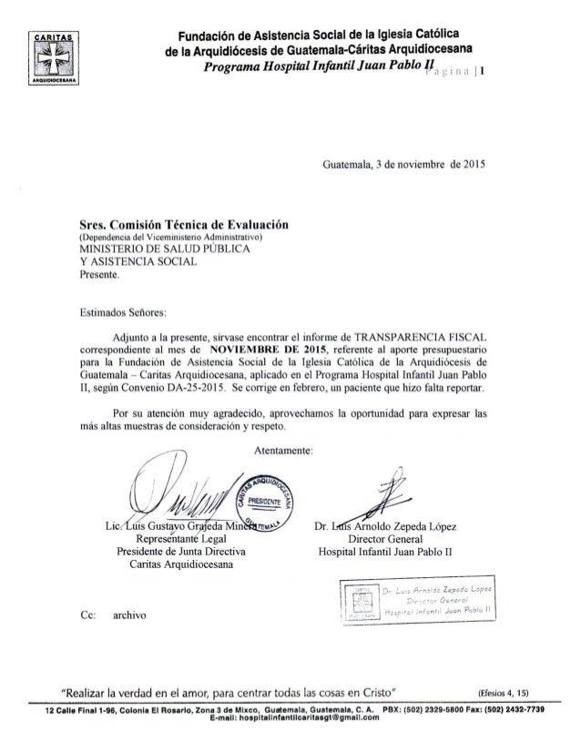 Fundación de Asistencia Social de la Iglesia Católica de la Arquidiócesis de Guatemala-Caritas Arquidiocesana  Programa Ho...