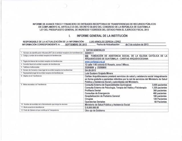 Informe de transparencia fiscal septiembre 2013