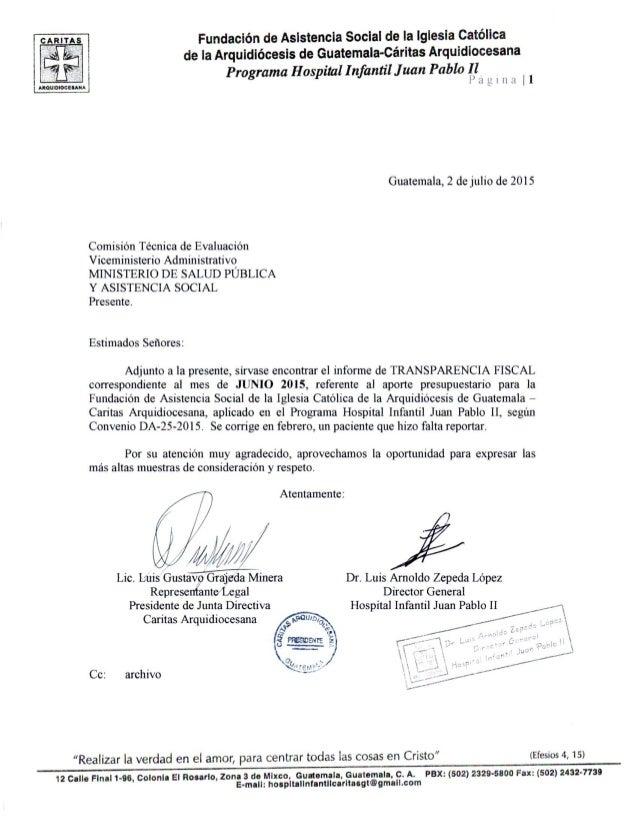 Fundación de Asistencia Social de la Iglesia católica de la Arquidiócesis de Guatemala-Caritas Arqurdrocesana  Programa Ho...