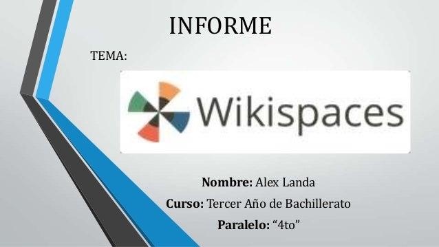 Informe de wikispaces