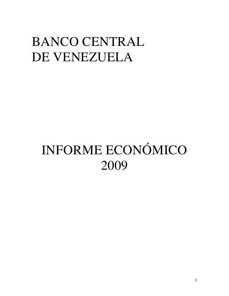 Informe económico 2009