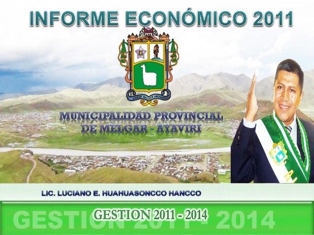 La Provincia de Melgar, líder en gestión de calidad de vida con cultura ecológica y ambientalista, competitiva, sostenible...